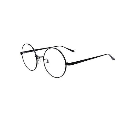 NEW Mens Womens Vintage Round glasses Eyeglass Frames Spectacles Black