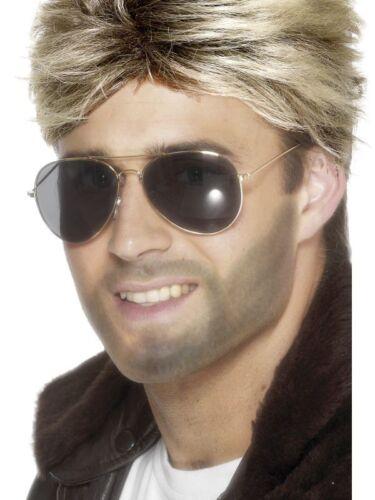 George Michael 80s WHAM Fancy Dress CHOOSE LIFE T Shirt Wig Glasses Makeup lot