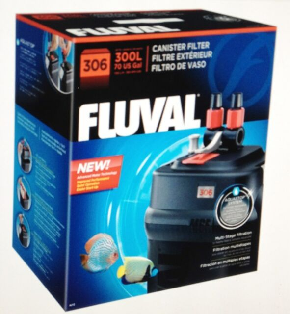 hagen fluval 306 external canister aquarium filter up to 70 gallon ...