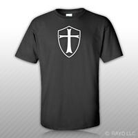 Knight's Templar Shield T-shirt Shirt Tee Bonus Sticker S M L Xl 2xl 3xl Knight