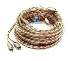 MEMPHIS ETP-25 25 FEET FT. 2 CHANNEL TWISTED AUDIO RCA JACK AMPLIFIER CABLE WIRE
