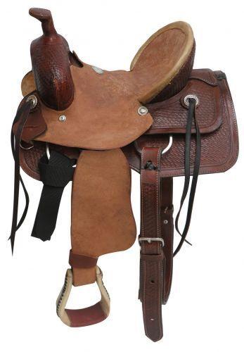 Buffalo Youth hard seat roper style saddle 13
