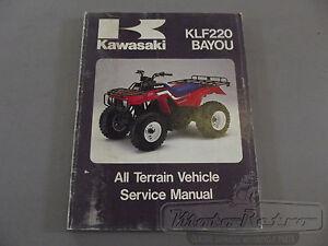 kawasaki klf220 klf 220 bayou 88 93 workshop service manual ebay rh ebay com Kawasaki Engines Kawasaki Engines