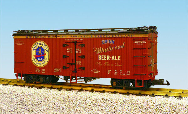 USA Trains G Scale U.S. REEFER CAR R16398 Whitbread Pale Ale oxide bluee