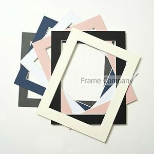 Packs-of-10-Black-White-Ivory-Grey-Blue-Pink-Picture-Photo-Mounts