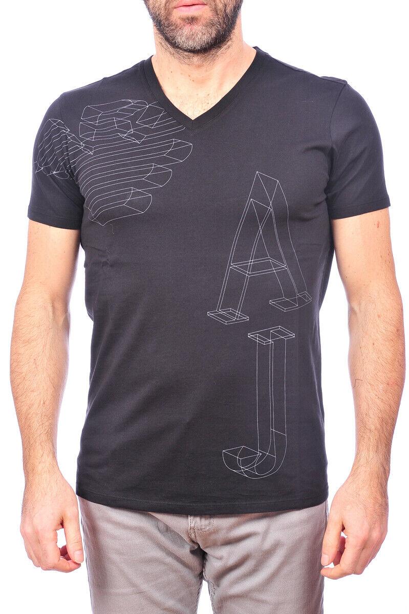 Armani Jeans AJ Camiseta Hombre Regular Fit Negro  B6H31LS 12 SZ. M poner Oferta  popular
