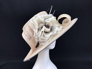 Ladies Jacques Vert Hat ...Latte / Coffee / Light Rose Gold Coloured (10260)