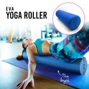 eva 90x15cm physio foam ab roller yoga pilates exercise