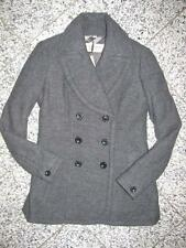 BURBERRY 100% Wolle Grau Pea Coat Jacke Trenchcoat Peacoat Mantel Gr.42 Ita-46