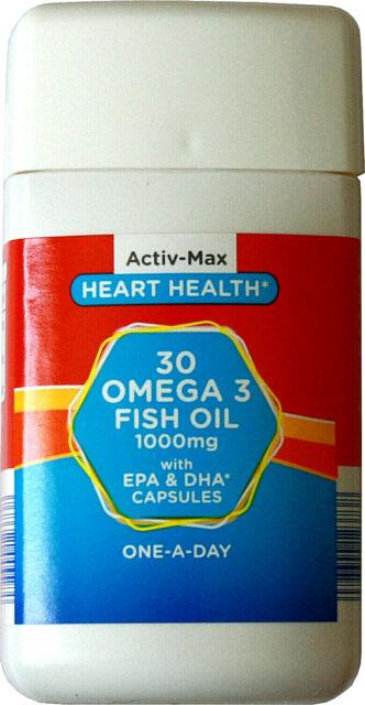 Omega 3 Fish Oil 1000mg with EPA & DHA 30 Capsules