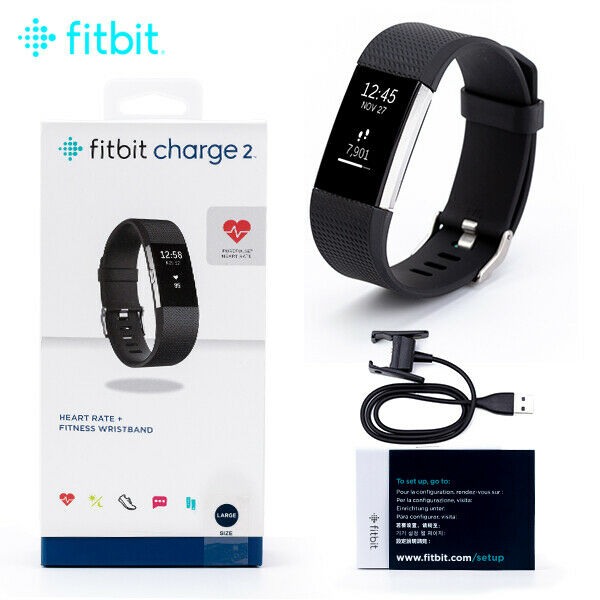 Fitbit Charge 2 Heart Rate Monitor Fitness Activity Tracker Large Black activity black charge fitbit fitness heart large monitor rate tracker