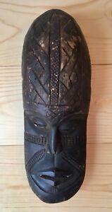 Vintage-Large-Primitive-African-Hand-Carved-Wood-Tribal-Mask-Art-Home-Decor