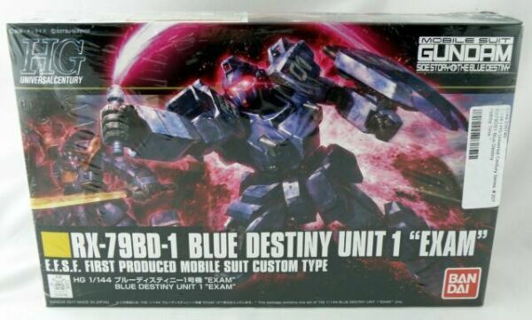 Free Shipping New HG 1//144 #80 Blue Destiny 1 Bandai Hobby Gundam