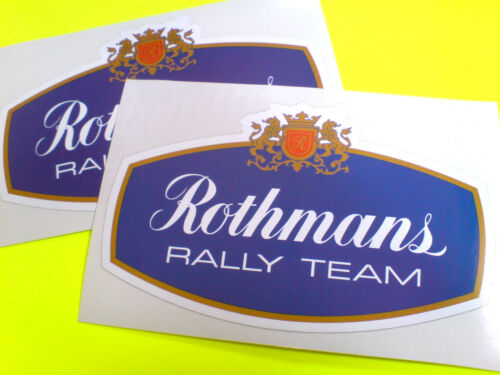 ROTHMANS RALLY TEAM  Classic Race Motorsport Stickers Decals 2 off 125mm