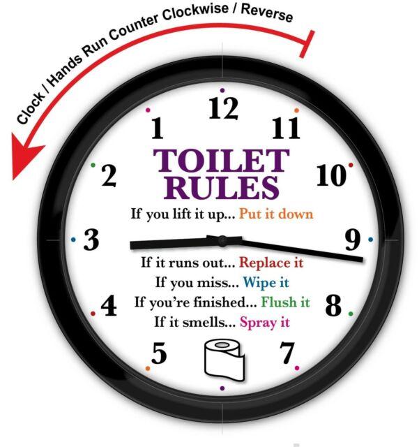 Backwards Wall Clock Funny Novelty Time Clock Decor Gag Gift Reverse Turn For Sale Online Ebay