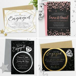 Personalised-Engagement-Party-Invitations-Invites-with-Envelopes