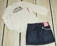 Gymboree Tres Fabulous Petite Couture Dog Top 5t & Pearl Jean Skirt 4t Set