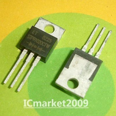 5 PCS STPR1020CTW STPR1020CT STPR1020 SUPER FAST GLASS PASSIVATED RECTIFIERS