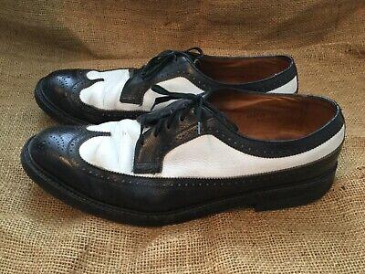 LEEKEE vintage 1950/'s black /& white rockabilly spectator wing tips