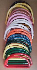 "Pair of 8/"" Green Marble Square Plastic Macrame Craft Handbag Purse Handles"