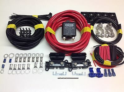 7mtr Professional Split Charge Relay kit with 12v 100amp Heavy Duty Relay