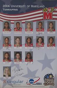 2006-Maryland-Women-039-s-Basketball-NCAA-Champs-Team-signed-poster-Brenda-Frese-11