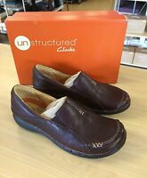 Clarks Unstructured Brown Leather Slip-on Shoes - Size 6m (nib/reg. $124)