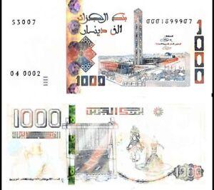 Algeria 1000 Dinars p-new 2018 2019 UNC Banknote