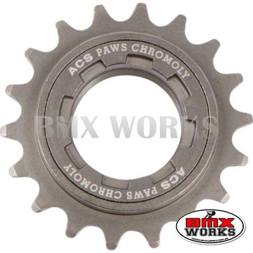 "ACS Paws 1//2/"" x 3//32/"" Freewheels 16 to 22 Teeth Gun Metal Old School BMX"
