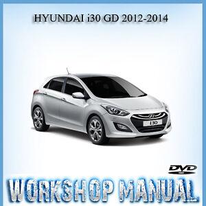 hyundai i30 gd 2012 2014 workshop repair service manual in disc ebay rh ebay com au Hyundai I30 Schwarz New Hyundai I30