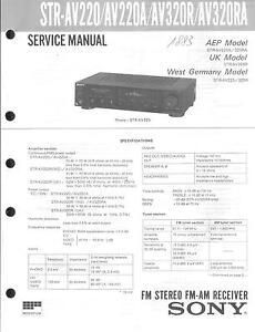 Ausdauernd Sony Original Service Manual Für Str-av 220a/320r/ra Tv, Video & Audio