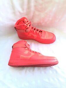 Nike Air Force 1 Men S Neon Coral High Top Sneakers Sz 11 Ebay