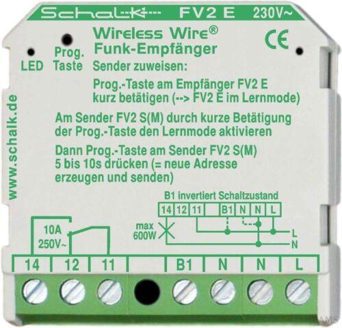 UP Schalk Funk-Empfänger 10A 230V AC FV2 E