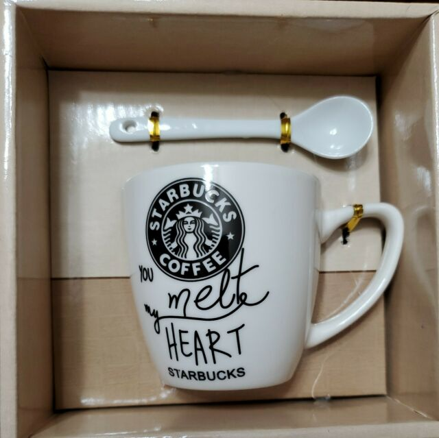 Starbucks You Melt My Heart Ceramic Espresso Coffee Mug/Tea Cup