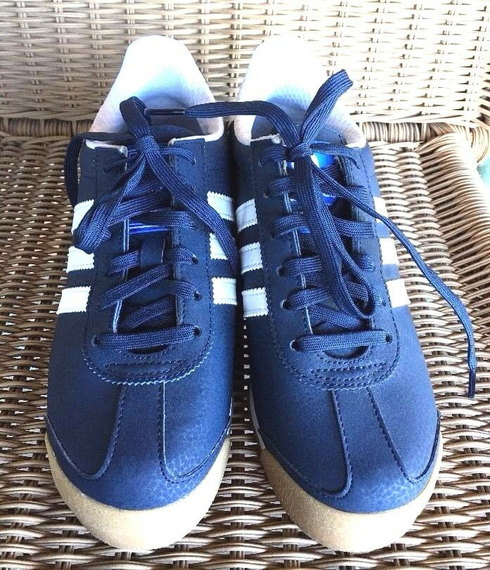 NWOB ADIDAS SAMOA MENS ATHLETIC SNEAKERS SHOES SIZE 5 Navy Blue/White The latest discount shoes for men and women