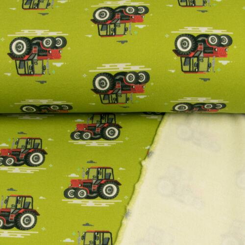 Sweatshirt Stoff Trecker hellgrün Kinderstoffe Öko-Tex