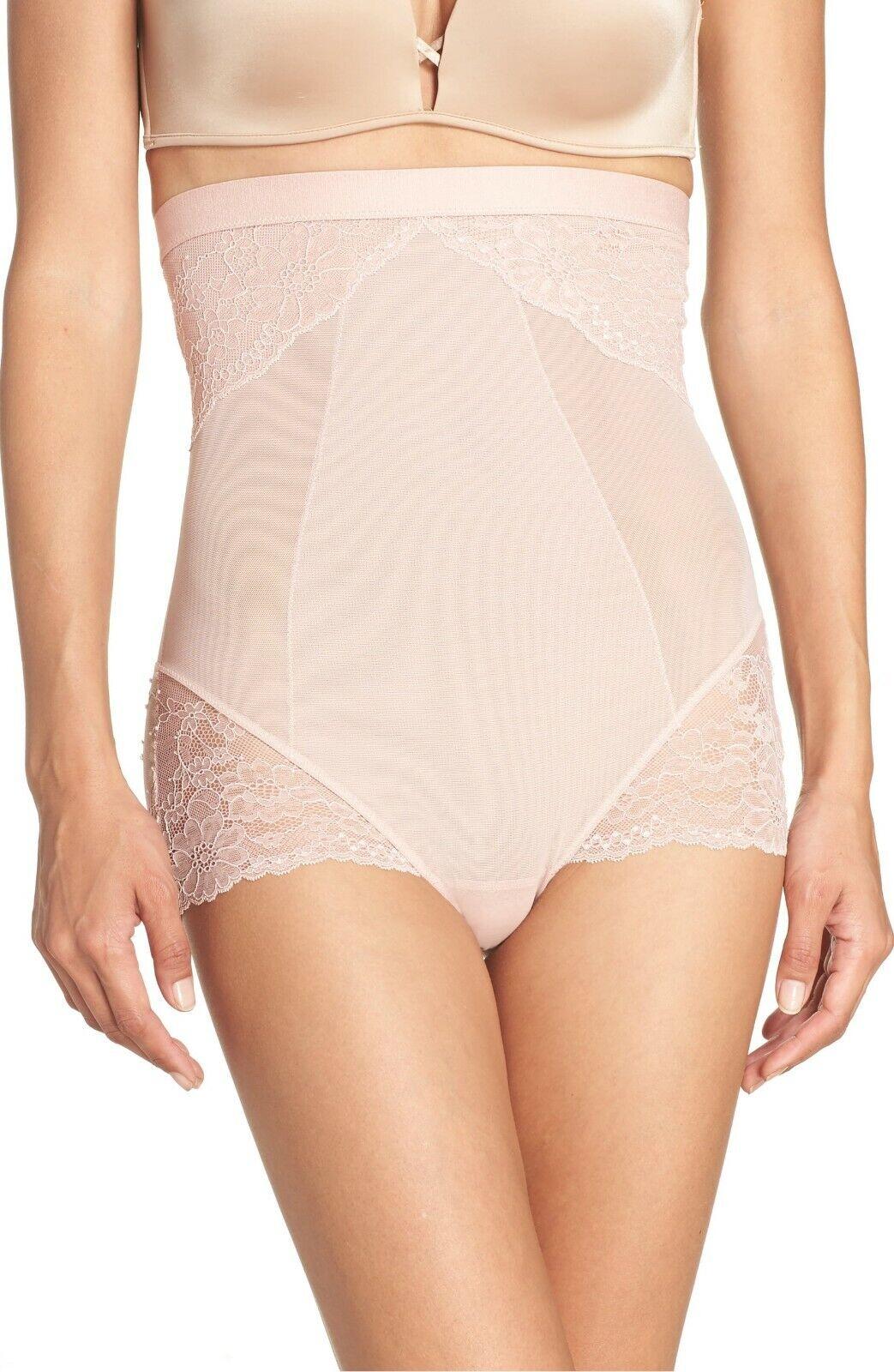 SPANX 10121R Spotlight On Lace High Waist Shaper Briefs pink XS = (0 - 2) FIRMS