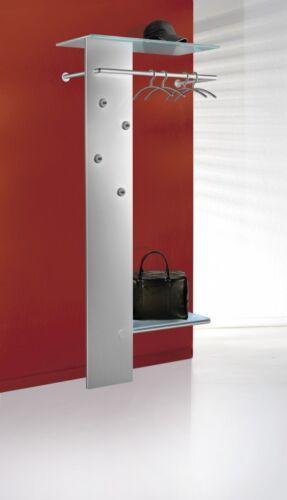 KENT Design-Garderobe Wandgarderobe Garderobe Kleiderständer Alusilber