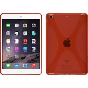 Coque-en-Silicone-Apple-iPad-Mini-3-2-1-X-Style-rouge-films-de-protection