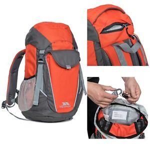 Trespass-Buzzard-Kids-Orange-School-Bag-Girls-Boys-Rucksack-Travel-with-Whistle
