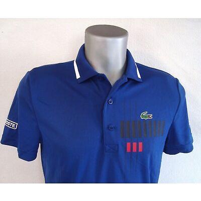 Lacoste x Novak Djokovic Ocean Blue EXCLUSIVE EDITION Men's Polo Shirt NEW
