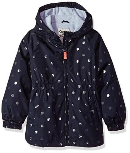 Osh Kosh B/'gosh Girls/' Navy Polka Dot Fleece Lined Jacket Size 5//6