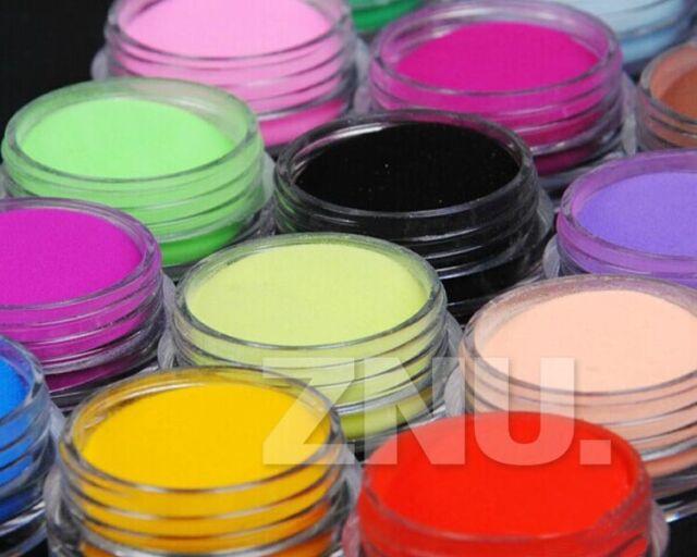 12 colors Acrylic Nail Art Extension Sculpture 3D Nail Art Designs Carved Powder
