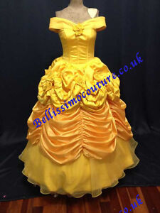disney princess dress beauty and beast belle costume adult. Black Bedroom Furniture Sets. Home Design Ideas