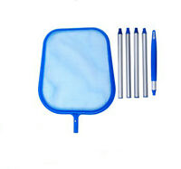 Pool Spa Fountain Pond Leaf Skimmer/net With 48 Inch Pole Kit