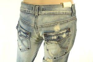 Tasca Sdrucito Con 's Sexy Patta Jeans 29 Corto Medio Woman Misura Alta XZXwx10q