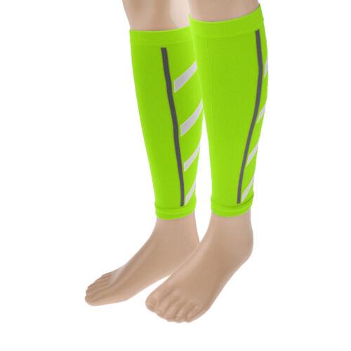 1 Pair Shin Splints Wrap Leg Support Brace Calf Compression Sleeves Green
