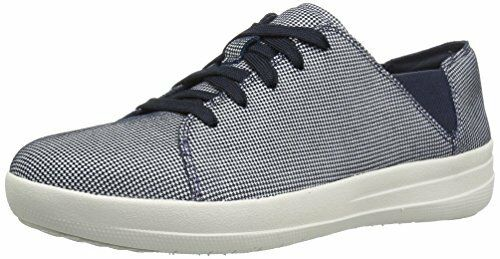 FitFlop Womens F-Sporty Lace-up Houndstooth Print Fashion Sneaker