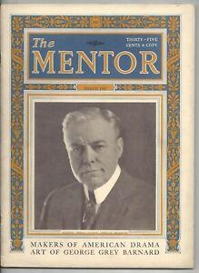 The Mentor Magazine March 1923 George Grey Barnard Art Drama Theatre Plays