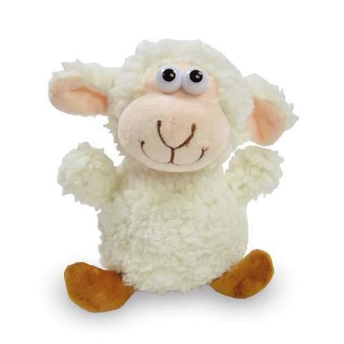 Labertier Plüschfigur Zottel Schaf mit Aufnahme Wiedergabefunktion und Bewegung